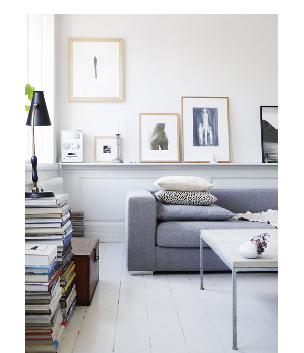 We're slightly jealous of Katarina Ek's four-room apartment in Södermalm, Stockholm.  The clean and simple colour...