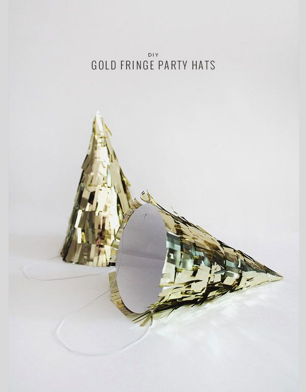 gold-fringe-party-hat-diy