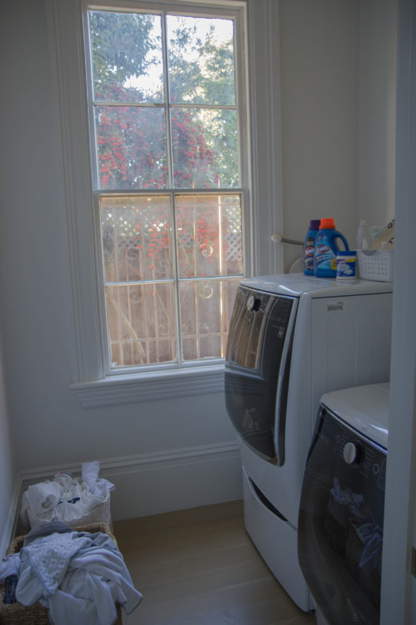 laundry room makeover reveal on apartment 34