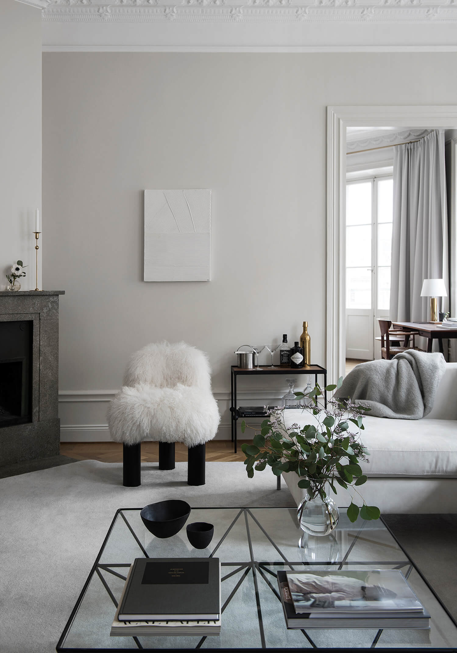 tour a sophisticated Swedish home on apartment 34