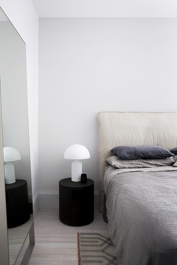 the iconic atollo lamp on apartment 34