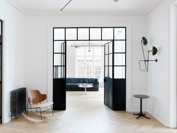 black steel door trend on apartment 34