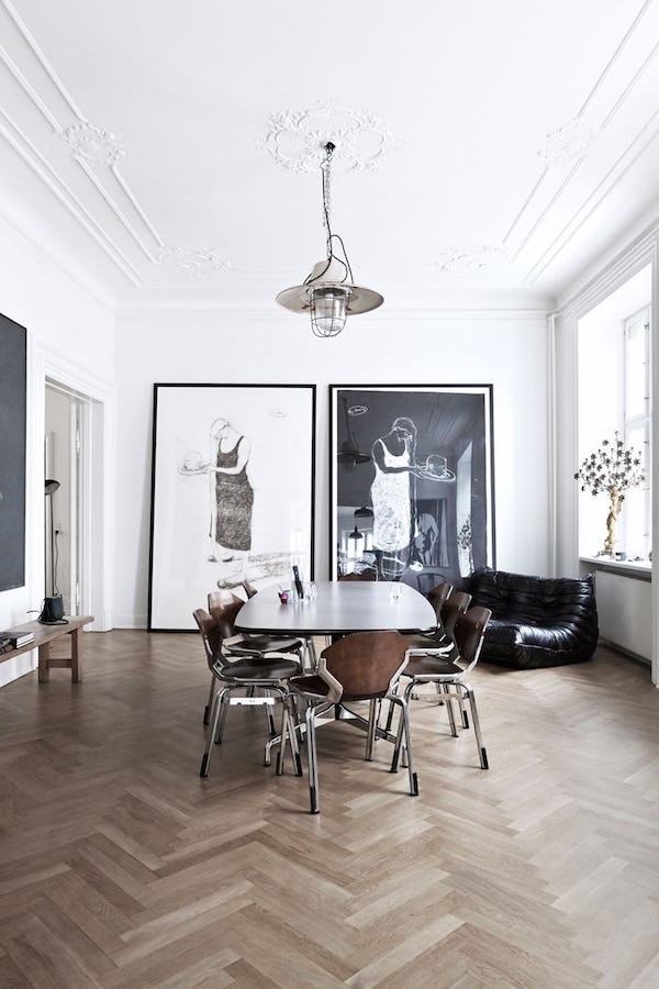 design trend to try: oversized art on apartment 34