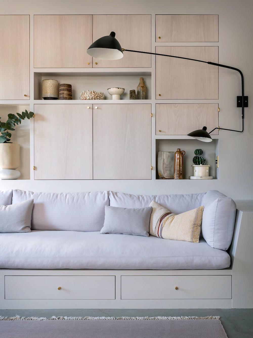 Idea to Steal: Built-In Sofas on apartment 34