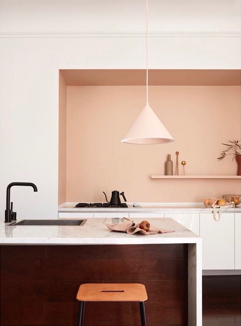 A Peach Kitchen on apartment 34